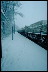 Eisenbahn im Schnee