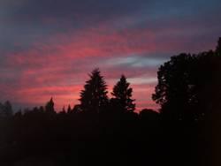 roter Himmel, schwarze Erde