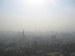 dust in the city