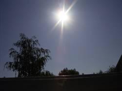 Die Sonne am Samstag
