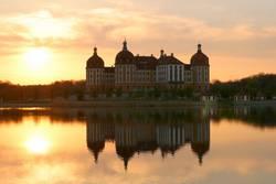 Schloss Moritzburg, Abendstimmung