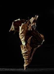 Herbst Blatt Skulptur