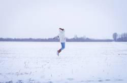 Weg vom Schnee