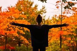 Den Herbst mit offenen Armen empfangen.
