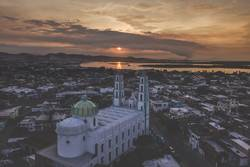 Sonnenaufgang über einer Kathedrale // Mazatlan Mexiko