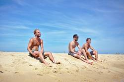 3 Jungs am Strand