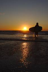 Surfing until sunset