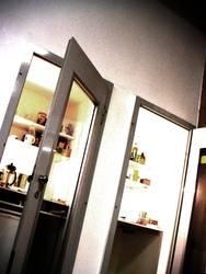 Büro-Küche in ehem. Telefonkabinen