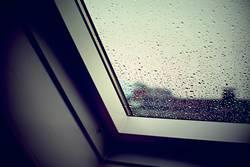 Fenster - Weiß - Tropfen