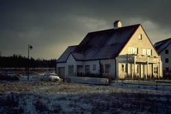 Haus im Winteranfang