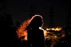 The light in her hair