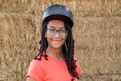 Beautiful teenager with helmet to learning to ride