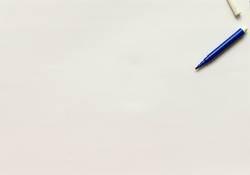 Blue permanent marker pen