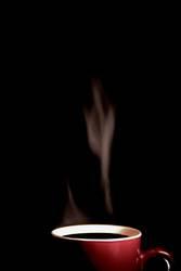 dampfende Kaffee Tasse