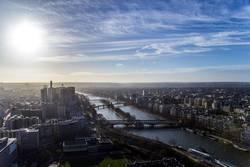An der Seine in Paris entlang