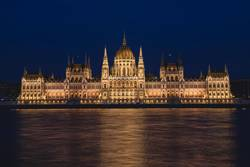 Night scene of Hungarian Parliament Building