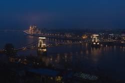 Danub flowing through Budapest