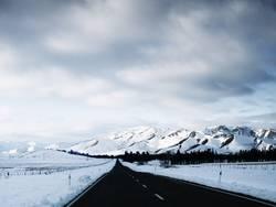 Straße zu den Alpen