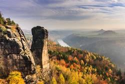 Blick auf den Teufelsturm und das Elbtal