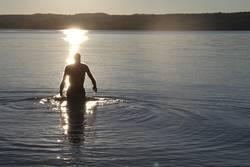 . . . the last swim