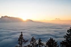 Sonnenuntergang am Gaisberg