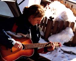 guitar and snow