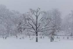 städtische Winterszene
