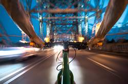 Radfahrer-Egoperspektive