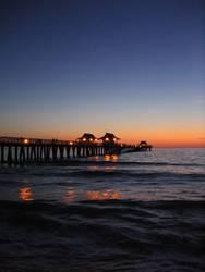 Nachts am Pier