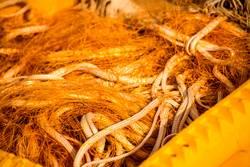 Fischernetze auf einem Fischkutter