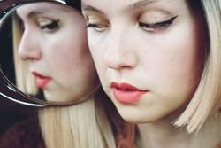 Close up of a woman with makeup
