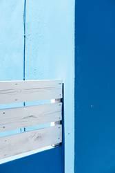 Komposition für Blau und Weiß