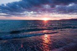 Wasser Licht und Abendstimmung