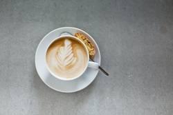 Cappuccino mit Latte Art