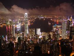 Hong Kong - Blick vom Victoria Peak bei Nacht