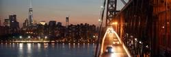 Manhattan Night View along Williamsburg Bridge