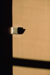 A very lonely light switch