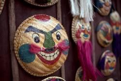 Vietnam masks close up