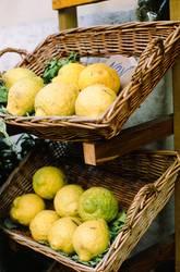 Lemons on a street in Napoli