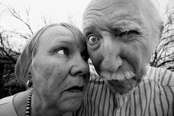 Crazy man and woman