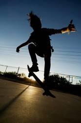 Skateboarder in Silhouette