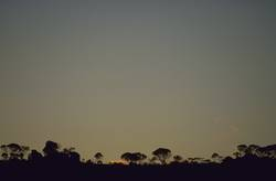 Sonnenuntergang bei Ouro Preto, Brasilien