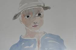 Aquarell Porträt