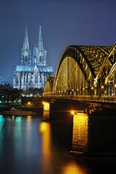 Cologne Night Vertical