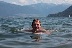 Schwimmen genießen Aussicht See
