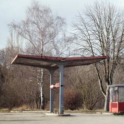 rotten gas station