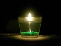 Kerze im Glas 2