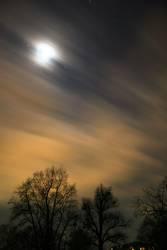 Langzeitbelichterer Nachthimmel