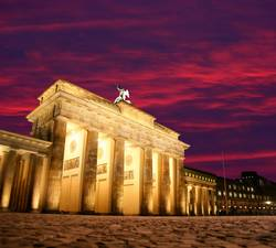 Abendstimmung am Brandenburger Tor in Berlin