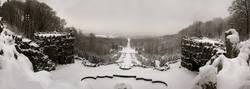 Verschneite Herkules-Kakaden in Kassel